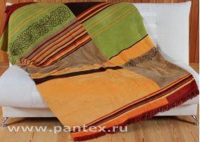Плед Пантекс Диагональ коричневая 150х200 хлопок-акрил