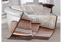 Плед Пантекс Блюз коричневый 200х220 хлопок-акрил
