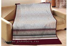 Плед Пантекс Блюз бордовый 200х220 хлопок-акрил
