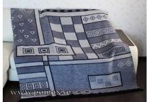 Плед Пантекс Геометрия Серая 180х220 хлопок-акрил
