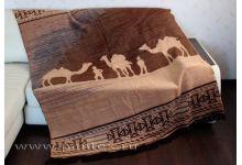 Плед Пантекс Сафари коричневая 180х220 хлопок-акрил