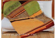 Плед Пантекс Диагональ коричневая 180х220 хлопок-акрил
