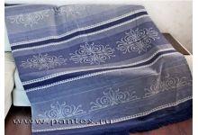 Плед Пантекс Орнамент серый 180х220 хлопок-акрил