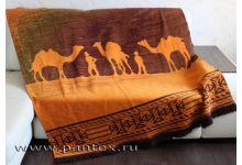 Плед Пантекс Сафари рыжий 150х200 хлопок-акрил