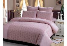 Постельное белье евро макси Kingsilk LS004-5 розовое из сатина люкс