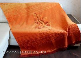 Плед Пантекс Лист коричневый 150х200 хлопок-акрил