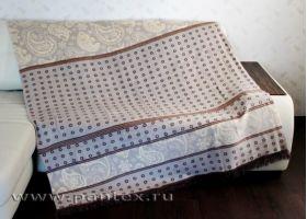 Плед Пантекс Горошинка 180х220 хлопок-акрил