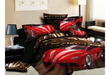 Постельное белье 3D Cleo 3/561-3D евро из сатина 3D