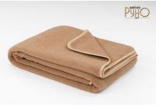 Плед-одеяло шерстяное РУНО Каракумы-01 верблюжий пух 140х205