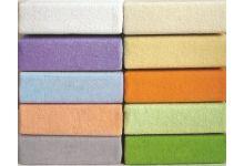 Простыня на резинке трикотажная светло-желтая 120х200 Легкие Сны