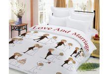 Свадебное постельное белье Newtone МОЛОДОЖЕНЫ евро