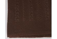 Плед вязаный Valtery Коса - Шоколад 175х210