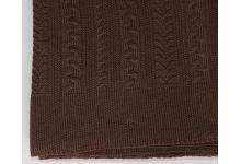 Плед вязаный Valtery Коса - Шоколад 150х200