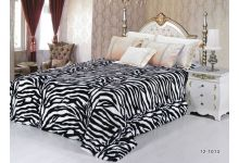 Покрывало меховое Silk-Place 220х240 тигр черно-белый