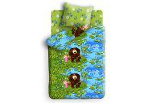 Постельное белье для детей Маша и Медведь - На Рыбалке (50х70)